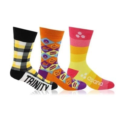 custom socks trade show giveaways