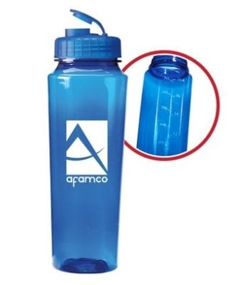 reusable water bottle trade show giveaway