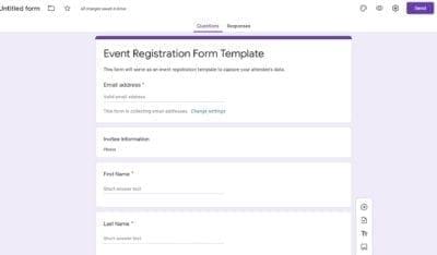 Event form buildout 1