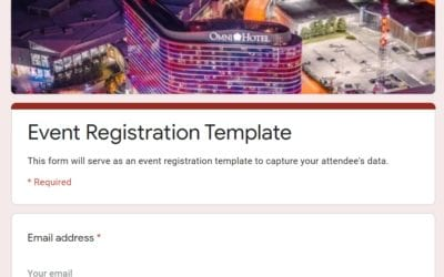 How-to: Free Event Registration Form (Google)