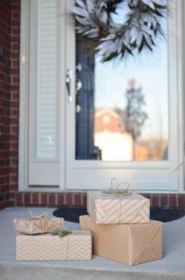 package on door