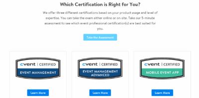 Cvent certification options